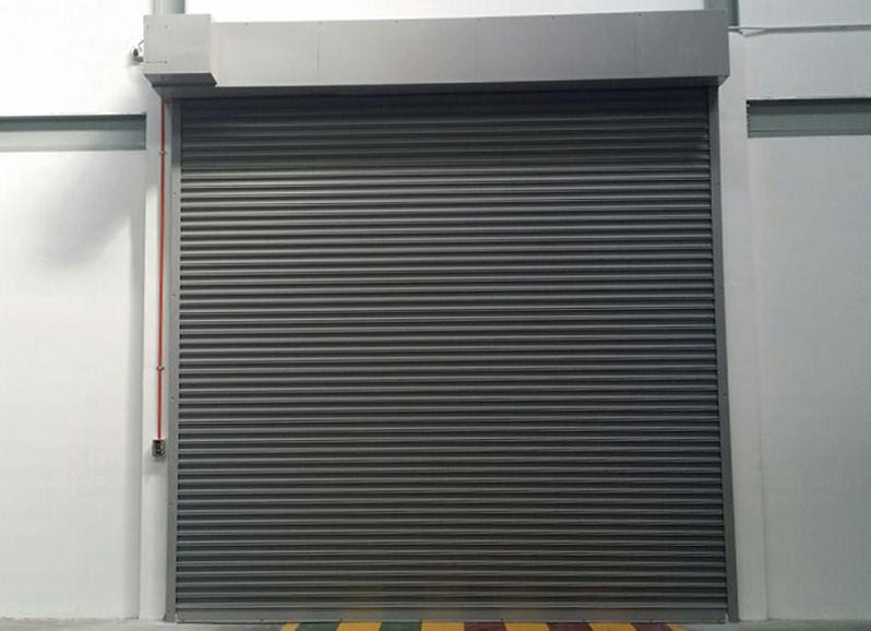 Automatic fire roller shutters and smoke curtains