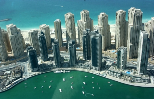 Dubai Marina Parking Lot